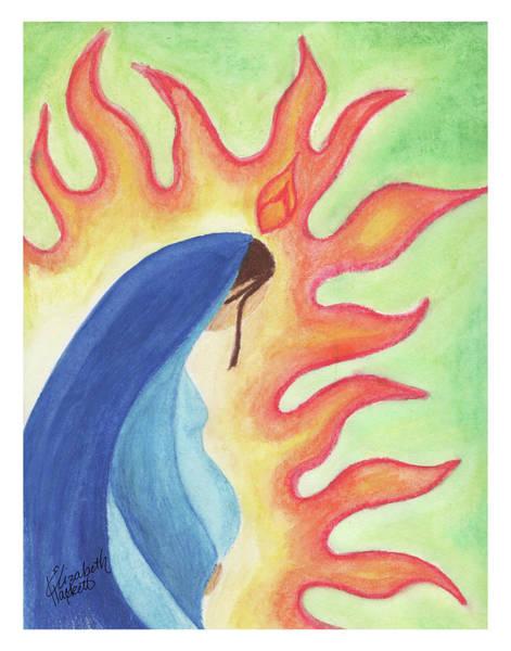 Drawing - Holy Mary by Betsy Hackett