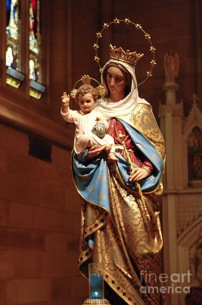 Grace Cathedral Photograph - Holy Mother And Infant Jesus by Bob Christopher