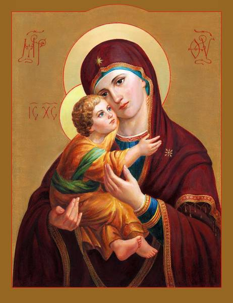 Wall Art - Painting - Holy Mother Of God - Blessed Virgin Mary by Svitozar Nenyuk