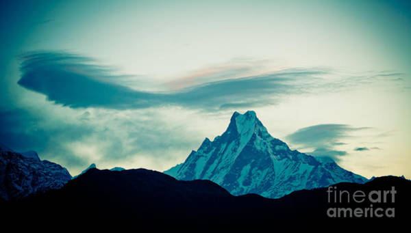 Photograph - Holy Mount Fish Tail Machhapuchare 6998 M by Raimond Klavins