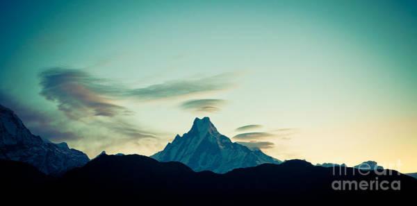 Photograph - Holy Mount Machhapuchare 6998 M by Raimond Klavins
