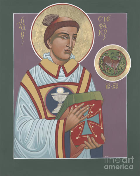 Painting - Holy Protomartyr Deacon St Stephen 261 by William Hart McNichols