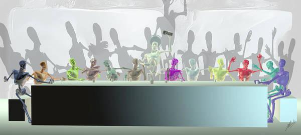 Wall Art - Digital Art - Holy Supper  by Quim Abella