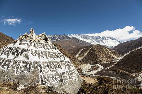 Photograph - Holy Tibetan Script In Nepal by Didier Marti