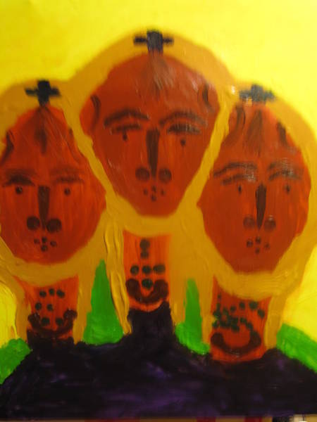 Painting - Holy Trinity by Gloria Ssali