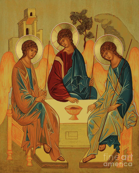 Painting - Holy Trinity - Jchtr by Joan Cole
