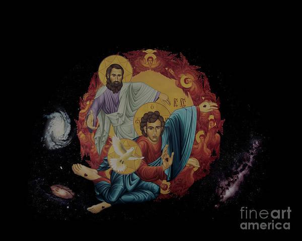 Painting - Holy Trinity - Rltht by Br Robert Lentz OFM