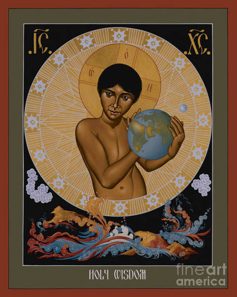 Painting - Holy Wisdom - Rlhow by Br Robert Lentz OFM