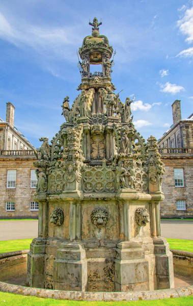 Wall Art - Photograph - Holyrood Fountain And Palace, Edinburgh, Scotland by Ina Kratzsch