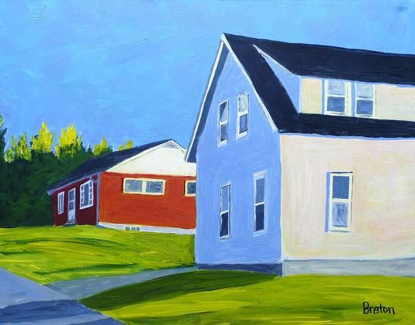 Neighborhood Painting - Homage by Laurie Breton