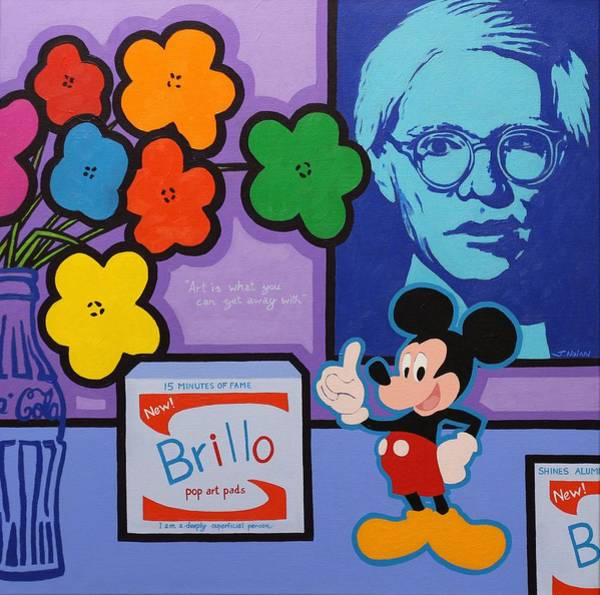 Wall Art - Painting - Homage To Andy Warhol by John  Nolan