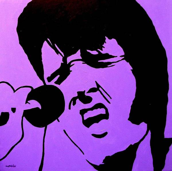 The Restaurant Painting - Homage To Elvis by John  Nolan