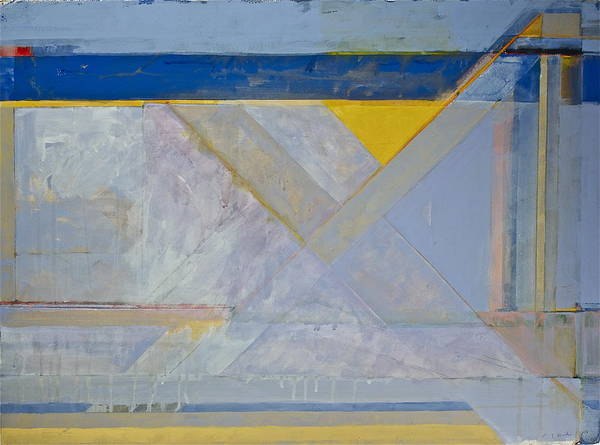 Homage To Richard Diebenkorn's Ocean Park Series  Art Print