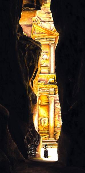 Wall Art - Painting - Homage To Petra by Richard Young