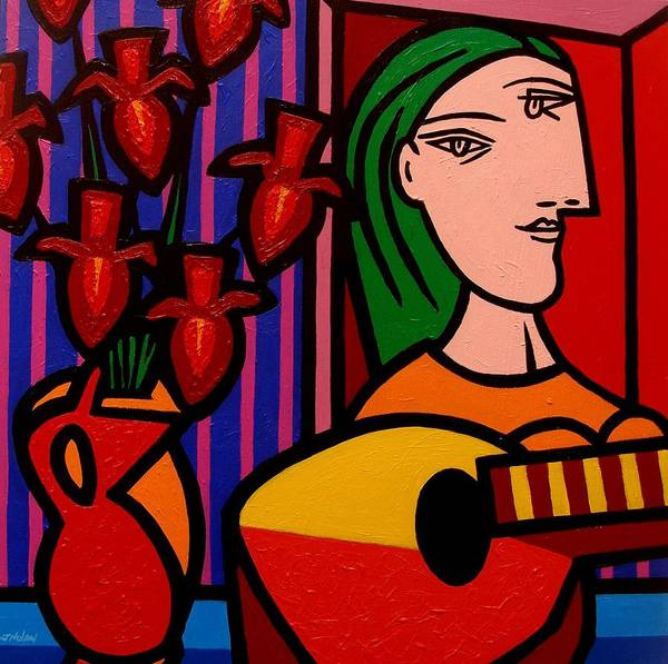 Giclee Painting - Homage To Picasso by John  Nolan