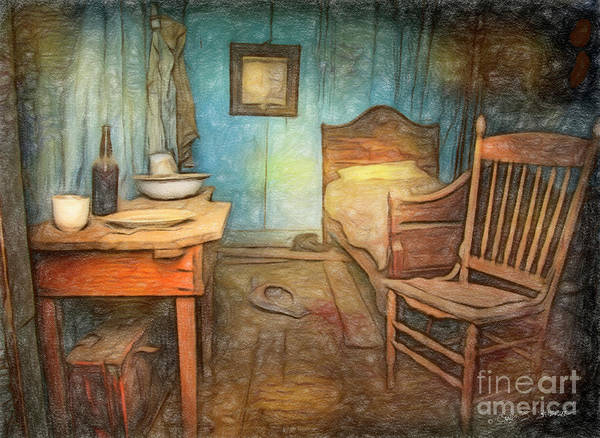 Photograph - Homage To Van Gogh's Room by Craig J Satterlee