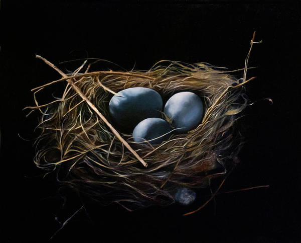 Egg Wall Art - Painting - Home by Anthony Enyedy