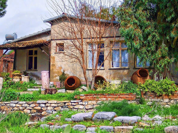 Photograph - Home In Greece by Roberta Byram