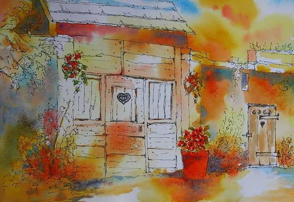 Painting - Home Is Where The Heart Is by Tara Moorman