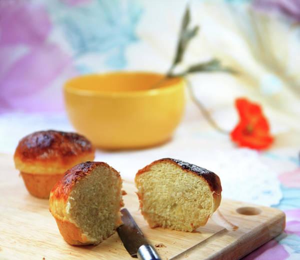 Cheese Cake Wall Art - Photograph - Home-made Buns by Nirdesha Munasinghe