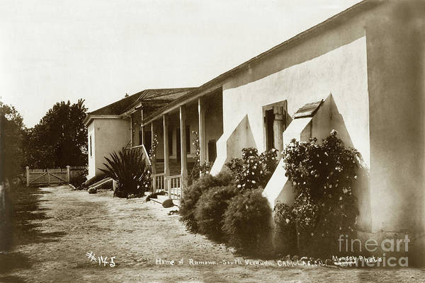 Photograph - Home Of Ramona, Camulos Rancho, California Circa 1900 by California Views Archives Mr Pat Hathaway Archives