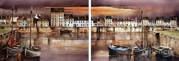Painting - Home Of The Hookers, Galway Citie by Val Byrne