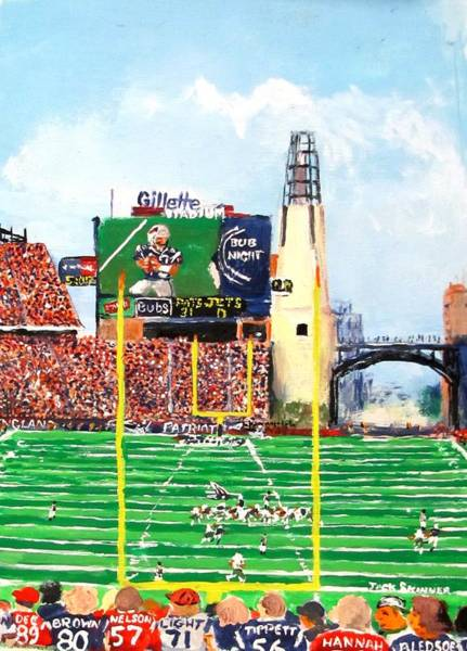 Wall Art - Painting - Home Of The Pats by Jack Skinner