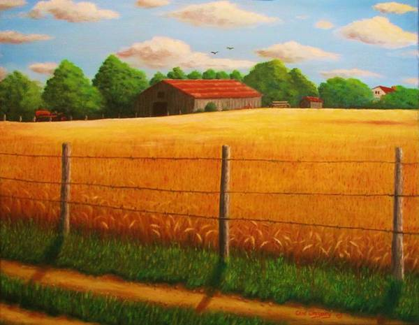 Painting - Home On The Farm by Gene Gregory