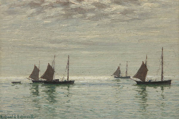 Grey Skies Wall Art - Painting - Home On The Morning Tide by Reginald Aspinwall