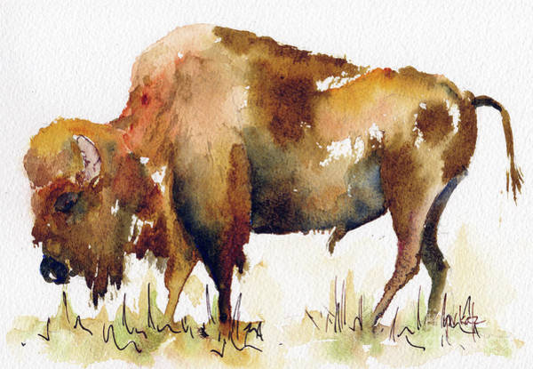 Painting - Home On The Range Buffalo by Pat Katz