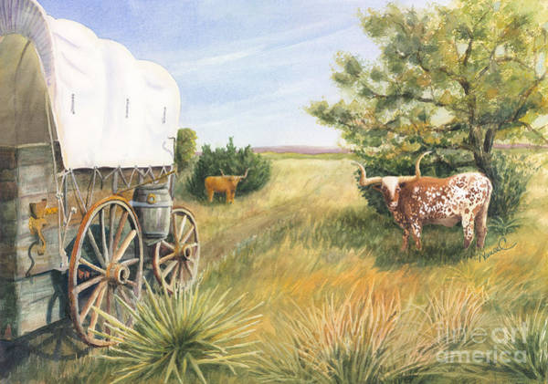 Longhorn Painting - Home On The Range by Nancy Charbeneau