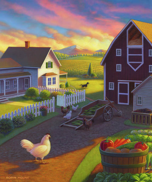 Painting - Home On The Farm by Robin Moline