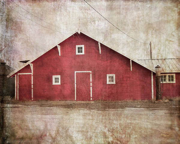 Digital Art - Home Place Barn by Ramona Murdock