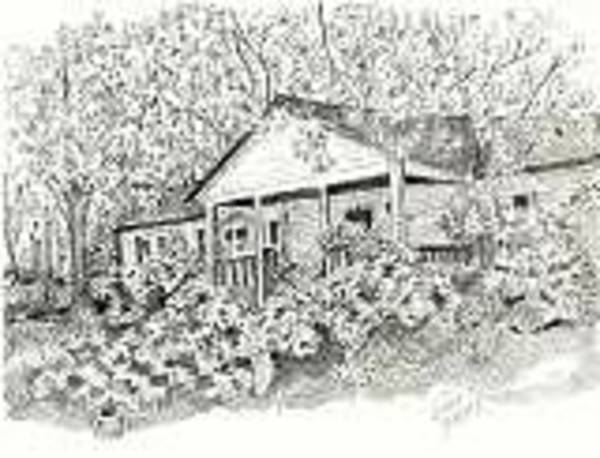 Front Porch Drawing - Home Place In Spring by Joseph Baker