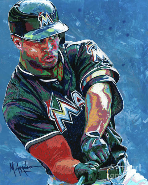 Hitter Painting - Home Run by Maria Arango