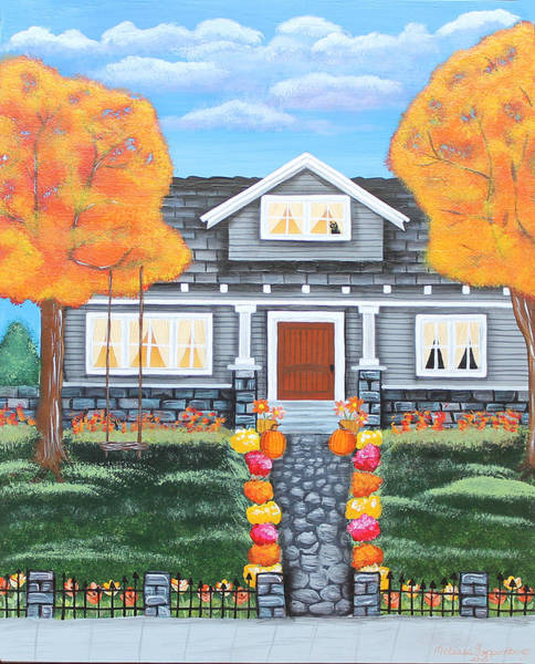 Painting - Home Sweet Home - Comes Autumn by Melissa Toppenberg
