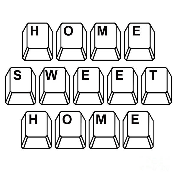 Keyboard Photograph - Home Sweet Home by Edward Fielding