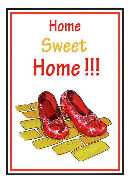 Yellow Brick Road Wall Art - Painting - Home Sweet Home  by Irina Sztukowski