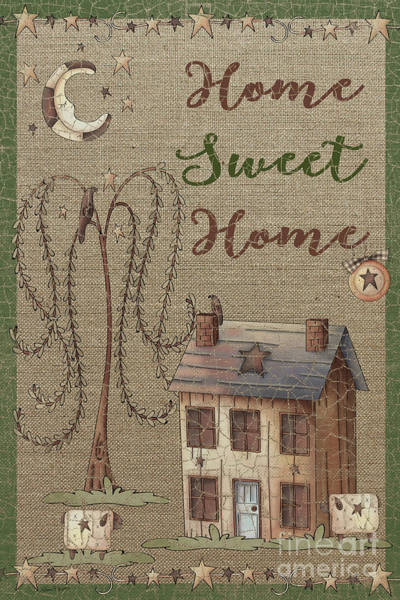 Birdhouse Painting - Home Sweet Home-jp3911 by Jean Plout
