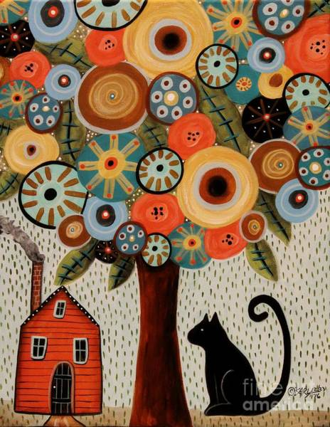 House Cat Wall Art - Painting - Home Sweet Home by Karla Gerard