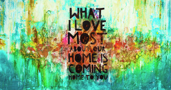 Wall Art - Painting - Home To You by Ivan Guaderrama