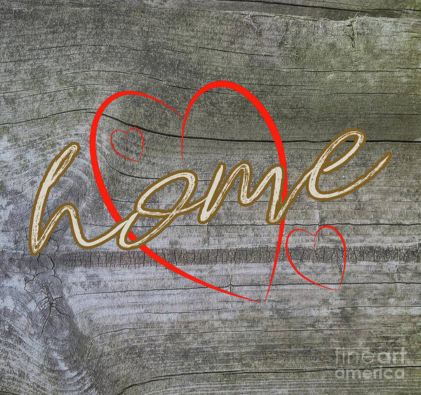 Photograph - Home With Hearts by Judy Hall-Folde