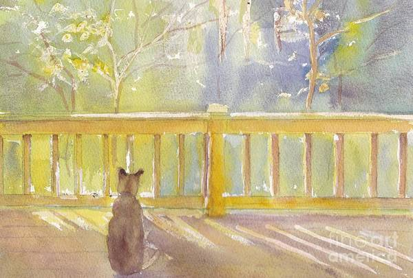 Porch Painting - Home by Yohana Knobloch