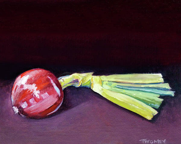 Alla Prima Painting - Homegrown Onion, Organic by Catherine Twomey