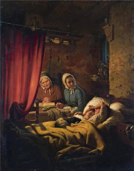 Meyer Painting - Homely Peace by Johann Georg Meyer von Bremen