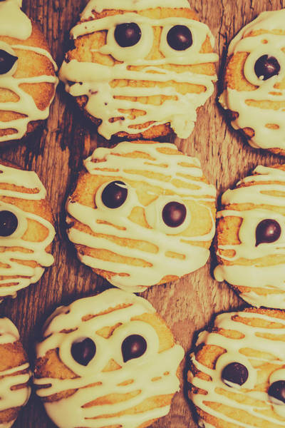 Baking Photograph - Homemade Mummy Cookies by Jorgo Photography - Wall Art Gallery