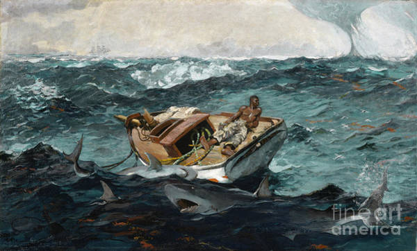 Wall Art - Painting - Homer, The Gulf Stream, 1899 - To License For Professional Use Visit Granger.com by Granger
