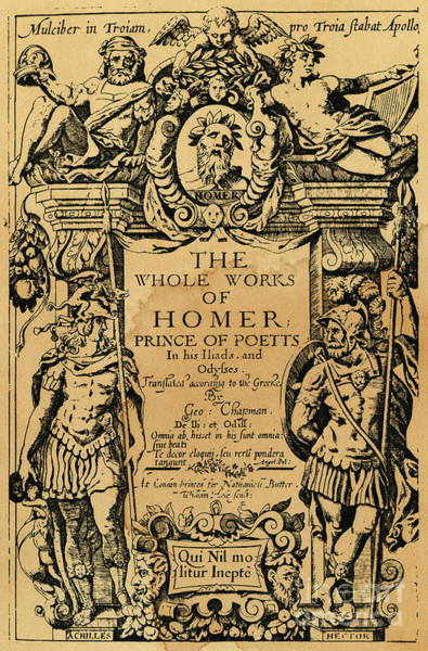 Drawing - Homer Title Page, 1616 by Granger