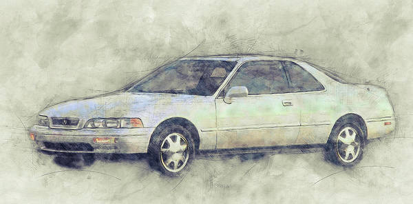 Wall Art - Mixed Media - Honda Acura Legend 1 - Executive Car - 1985 - Automotive Art - Car Posters by Studio Grafiikka