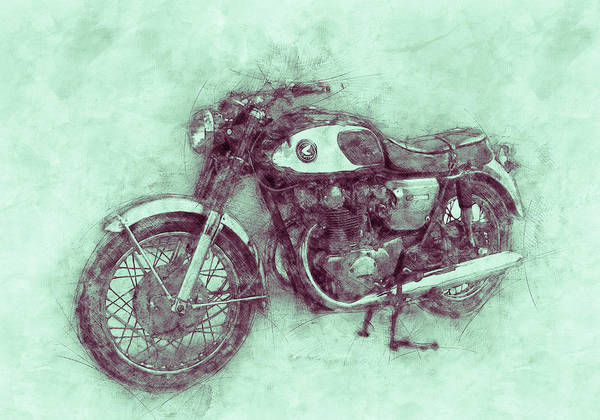 Wall Art - Mixed Media - Honda Cb77 - Honda Motorcycles 3 - Motorcycle Poster - Automotive Art by Studio Grafiikka